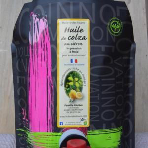 Huile colza citron premiere pression froid 3l huilerie des fouets copy